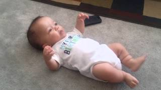 Funny Baby Dances to Music