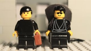 Matrix Lobby Fight Scene in Lego