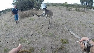 Getting a Watering Can off a Kangaroo's Head