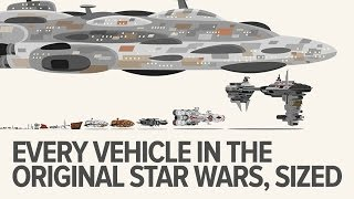 Every Single Star Wars Vehicle from the Original Trilogy, Sized
