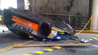 SEAT Leon Race Car Dropped From A Lift