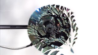 Watch a CD Shatter in Slow Motion!