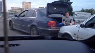 Towing a Car in Russia