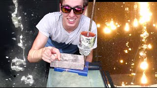 Pouring Molten Metals into Water