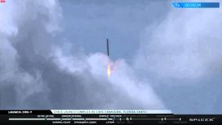 SpaceX - CRS-7 Launch explosion