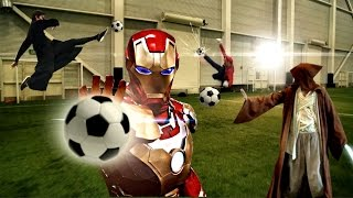 All Your Favourite Super Heroes Playing Soccer