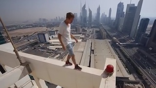 Russian Guys on Princess Tower Dubai