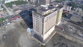 Hotel Implosion Filmed by Drone