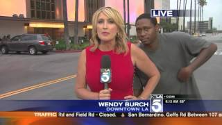 Videobomber Scares Reporter