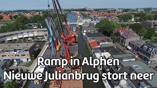Huge Construction Cranes Collapse in the Netherlands