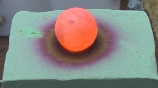 Red Hot Nickel Ball on Floral Foam