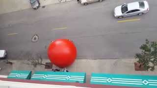Red Ball in Downtown Toledo