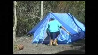 The Old Goanna in a Tent Prank