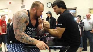 Larratt and The Mountain Arm Wrestle