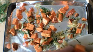Baked Yams with Dill - You Suck at Cooking