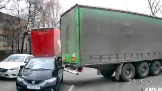 Truck Drags Car Along
